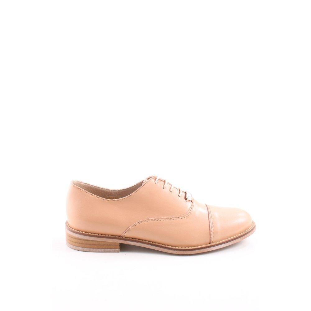 Détails sur JONAK Chaussures à lacets rose chair marron clair style d'affaires Dames T 37