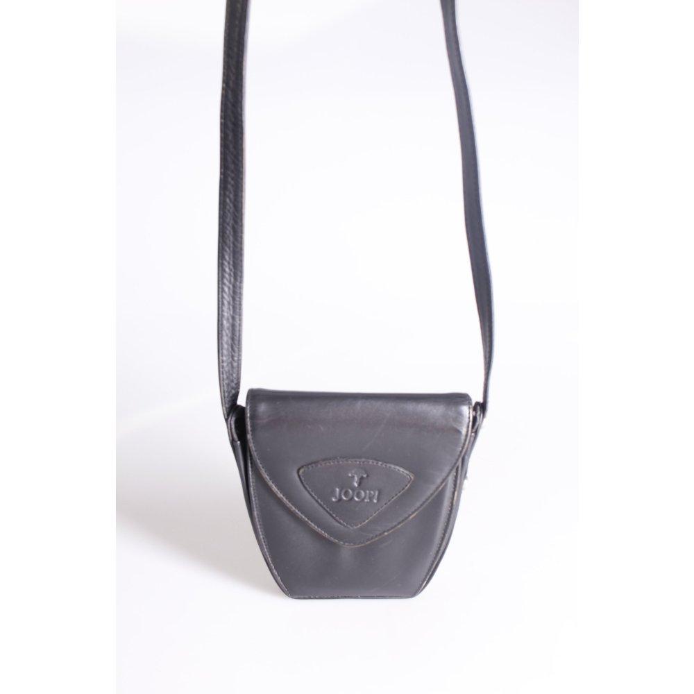 JOOP! Umhängetasche Logoprägung Damen Schwarz Tasche Bag Leder Crossbody  Bag .