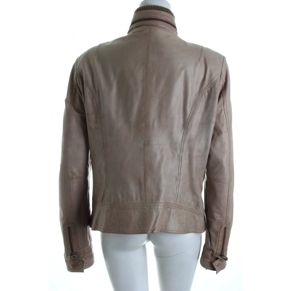 joseph janard lederjacke beige biker look damen gr de 42 jacke jacket leder ebay. Black Bedroom Furniture Sets. Home Design Ideas