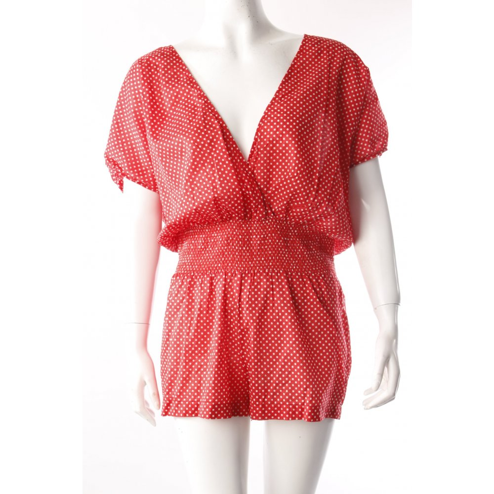 juicy couture jumpsuit kurz gepunktet damen gr de 38 rot. Black Bedroom Furniture Sets. Home Design Ideas