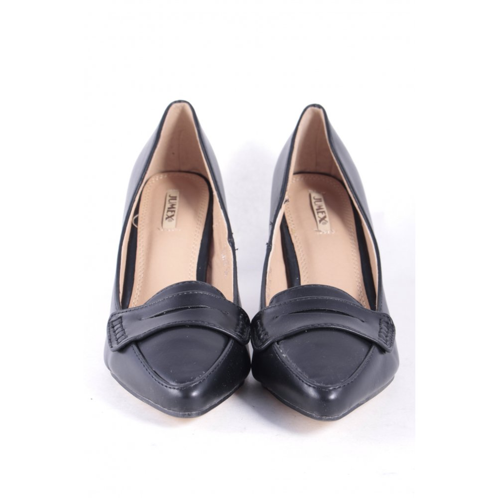 jumex spitz pumps schwarz damen gr de 38 pointed toe pumps damenschuhe. Black Bedroom Furniture Sets. Home Design Ideas