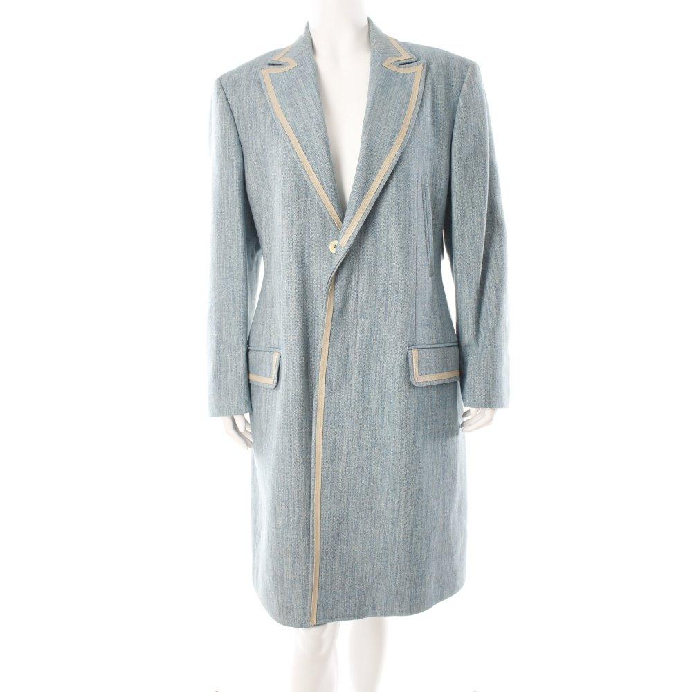 just cavalli mantel blau beige meliert applikation damen gr de 38 coat ebay. Black Bedroom Furniture Sets. Home Design Ideas
