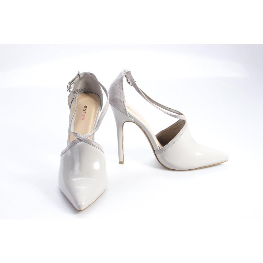 justfab high heels grau damen gr de 40 silberfarben pumps. Black Bedroom Furniture Sets. Home Design Ideas