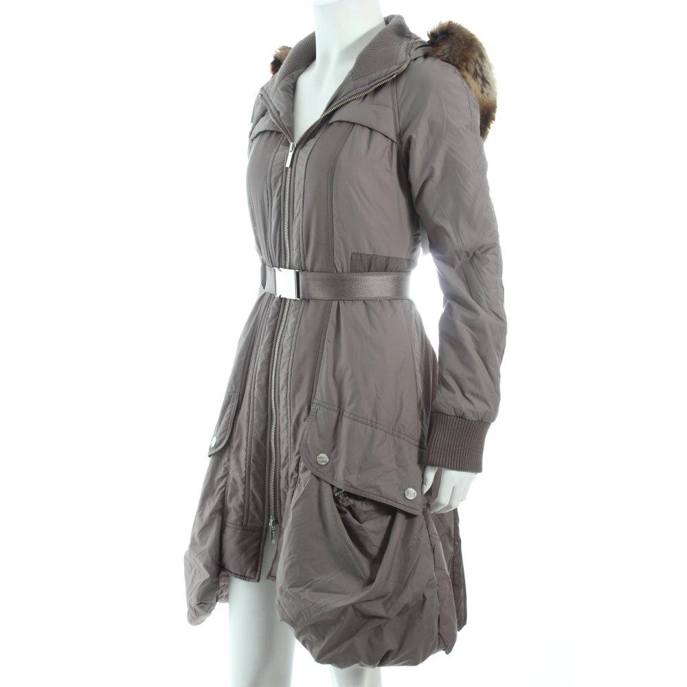 karen millen wintermantel grau anthrazit batikmuster street fashion look damen ebay. Black Bedroom Furniture Sets. Home Design Ideas