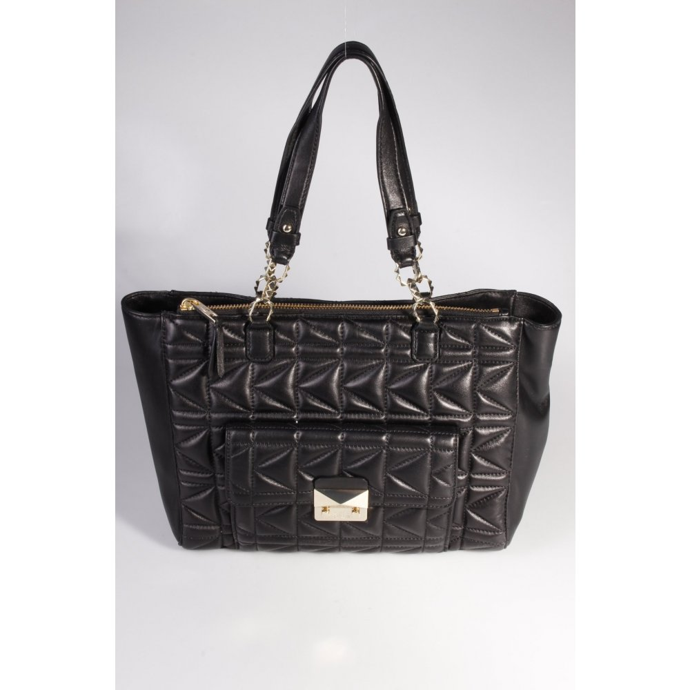 karl lagerfeld handtasche karl quilted shopper black damen schwarz tasche bag ebay. Black Bedroom Furniture Sets. Home Design Ideas