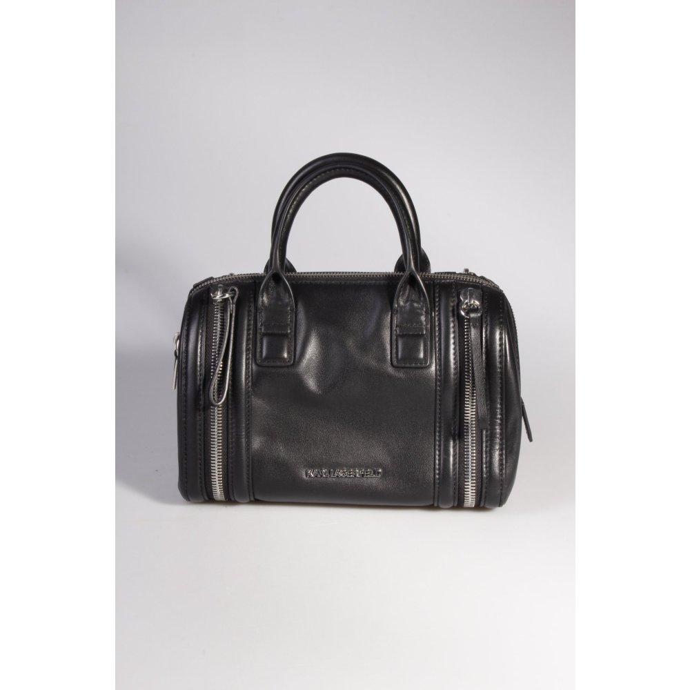 karl lagerfeld handbag karl zip small bauletto black ii women s bag. Black Bedroom Furniture Sets. Home Design Ideas