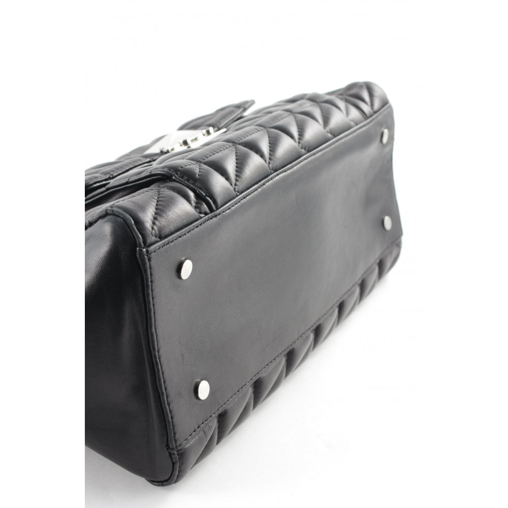 karl lagerfeld handtasche schwarz casual look damen tasche bag handbag ebay. Black Bedroom Furniture Sets. Home Design Ideas