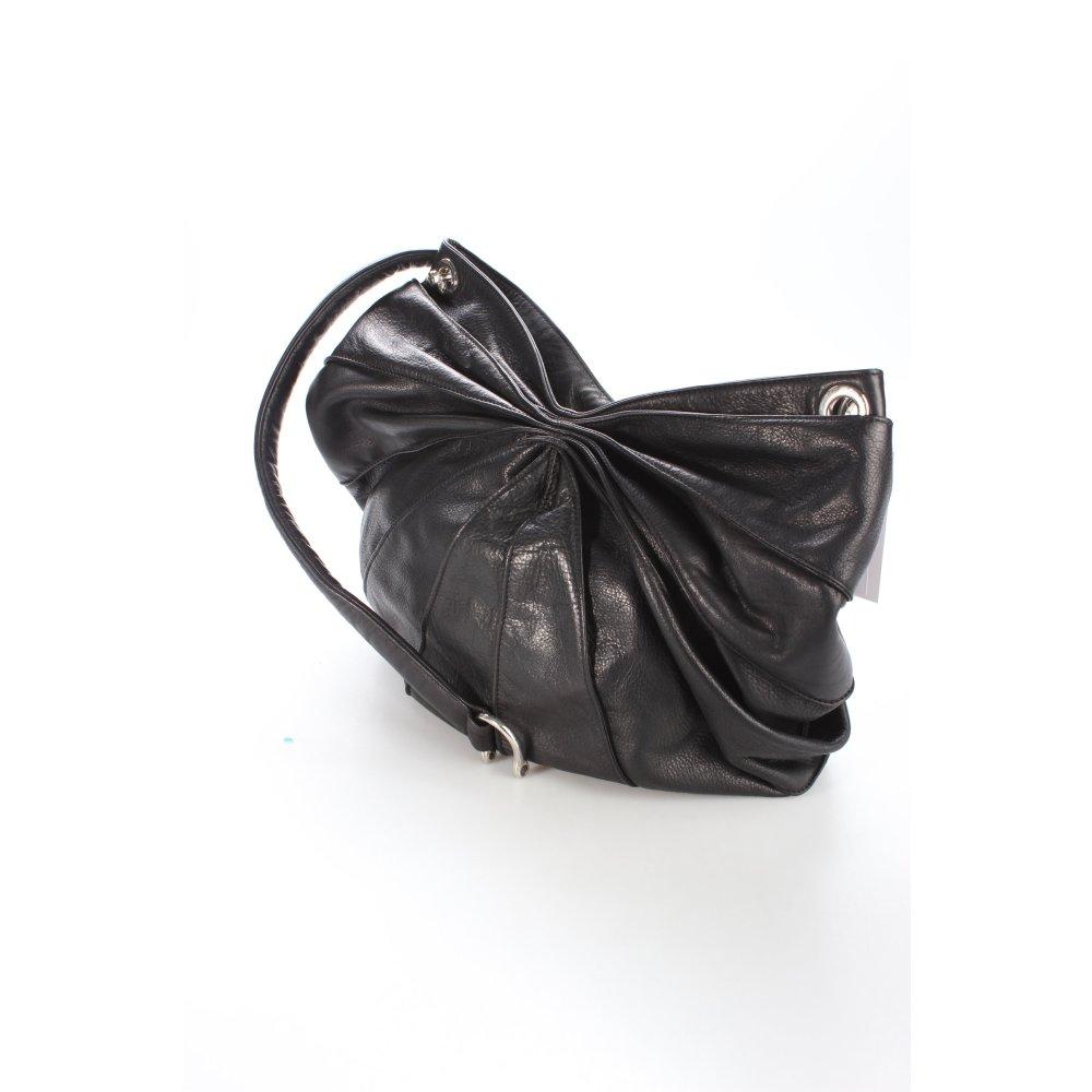 kaviar gauche handtasche schwarz klassischer stil damen tasche bag leder handbag ebay. Black Bedroom Furniture Sets. Home Design Ideas