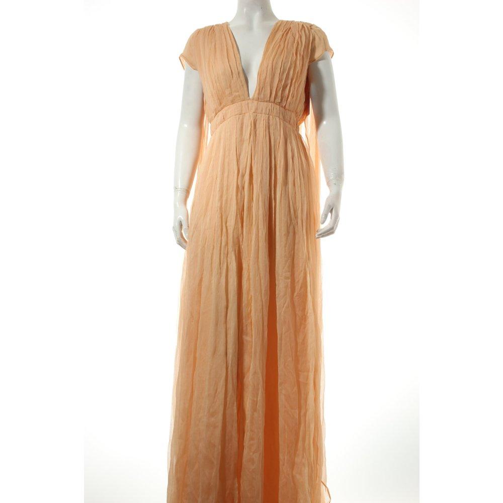 kaviar gauche maxikleid apricot eleganz look damen gr de 36 kleid dress seide ebay. Black Bedroom Furniture Sets. Home Design Ideas