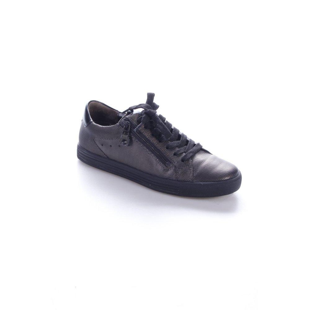 kennel schmenger lace up sneaker black anthracite casual. Black Bedroom Furniture Sets. Home Design Ideas