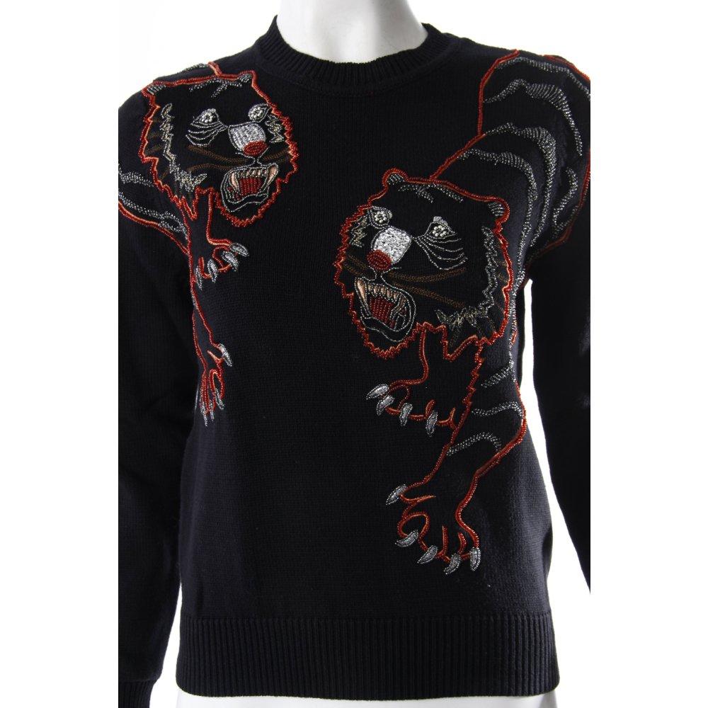 kenzo pullover tiger stickerei damen gr de 36 schwarz. Black Bedroom Furniture Sets. Home Design Ideas