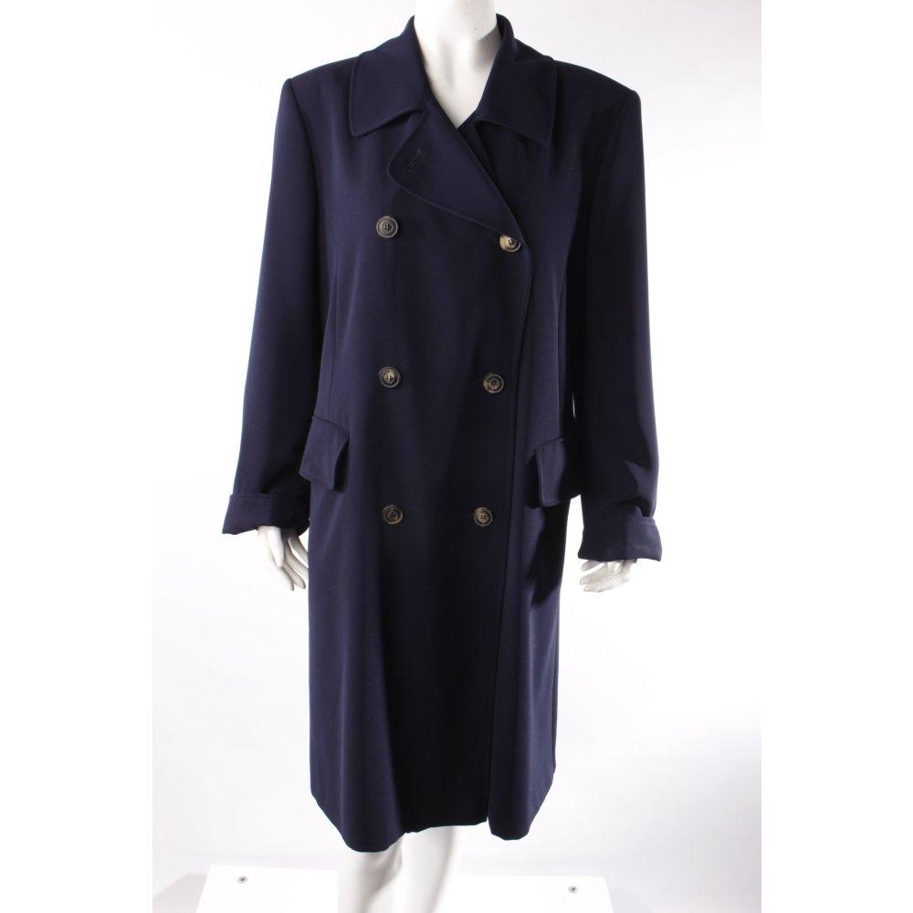 klassio kemper mantel dunkelblau damen gr de 38 coat gehrock frock coat ebay. Black Bedroom Furniture Sets. Home Design Ideas