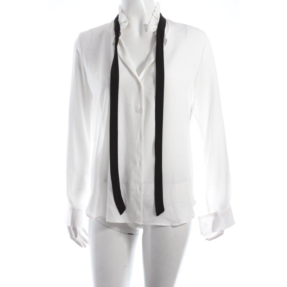 kontatto schluppen bluse wei schwarz damen gr de 34 wei. Black Bedroom Furniture Sets. Home Design Ideas