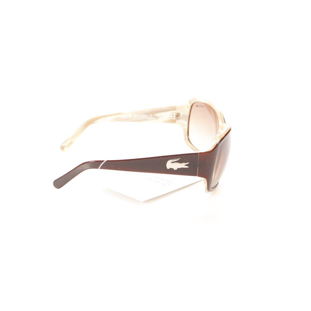 lacoste ovale sonnenbrille dunkelbraun beige eleganz look. Black Bedroom Furniture Sets. Home Design Ideas