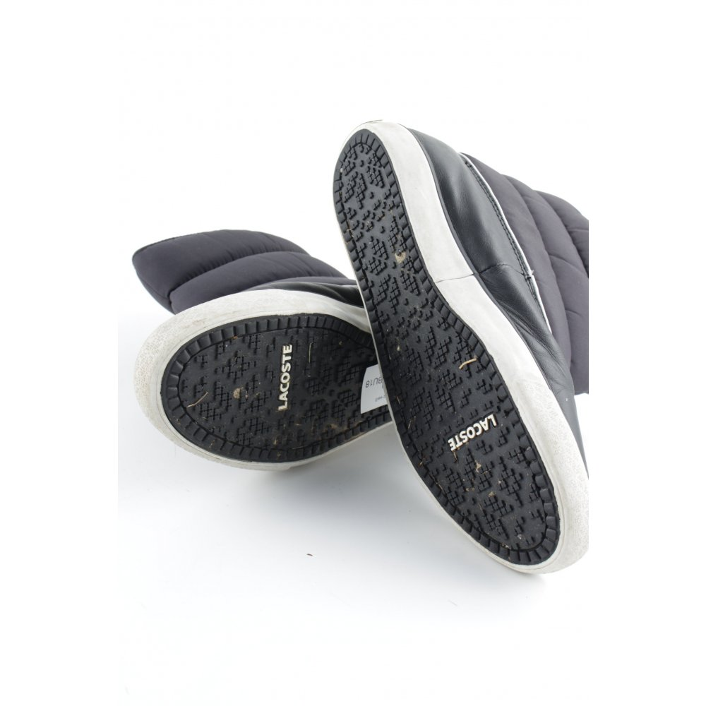 lacoste snowboots schwarz wei steppmuster casual look. Black Bedroom Furniture Sets. Home Design Ideas