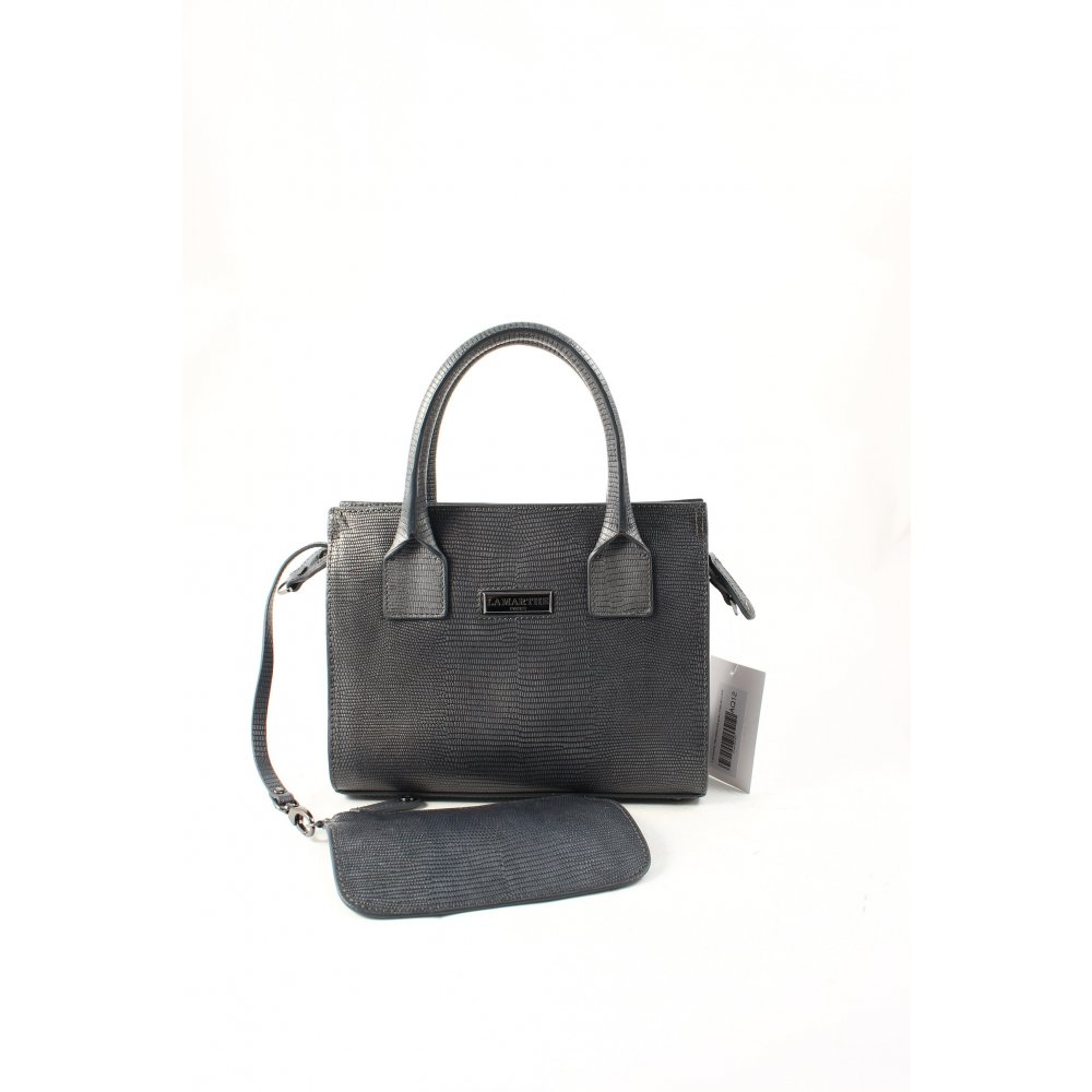 lamarthe handtasche grau casual look damen tasche bag handbag ebay. Black Bedroom Furniture Sets. Home Design Ideas