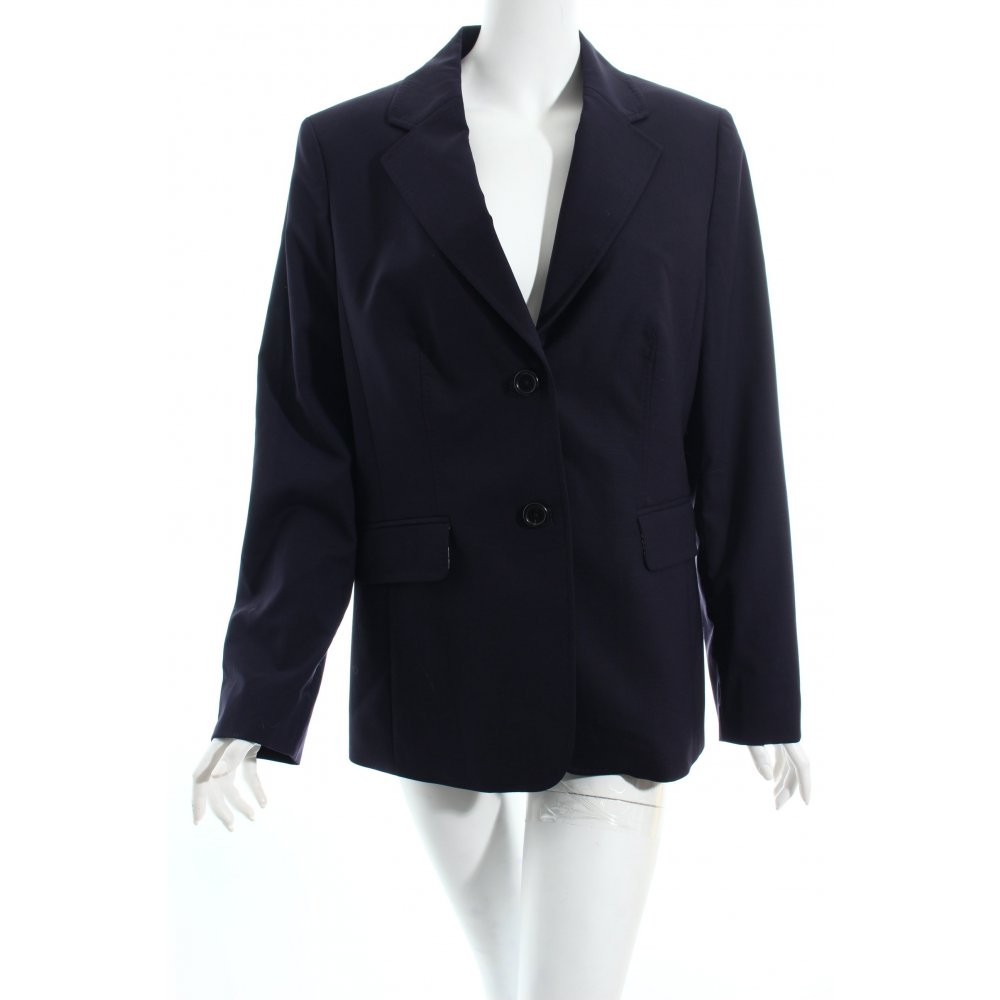 lands end smoking blazer dunkelblau elegant damen gr de 44 tuxedo blazer ebay. Black Bedroom Furniture Sets. Home Design Ideas