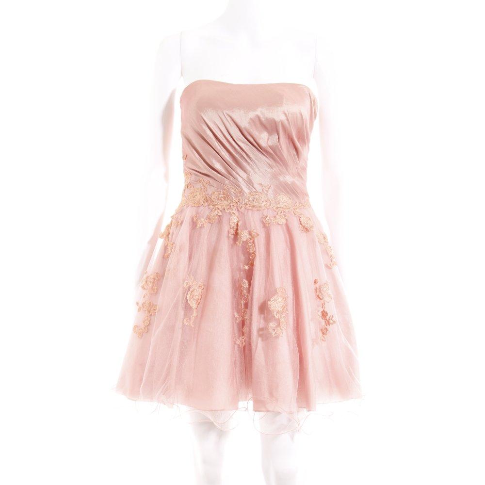 Online bestellen Auschecken tolle Preise Details zu LAONA Abendkleid rosa Blumenmuster Elegant Damen Gr. DE 32 Kleid  Dress