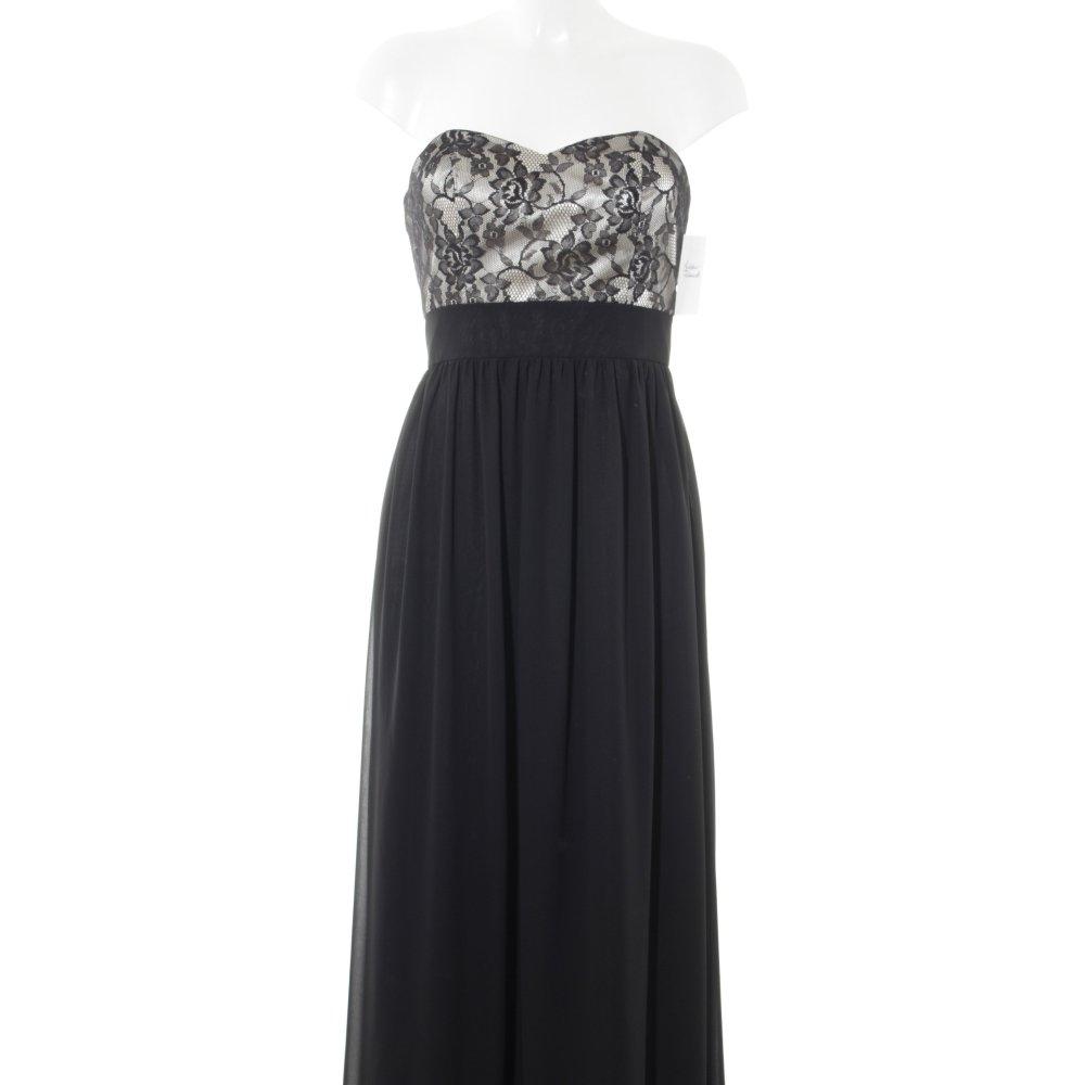 Bestbewerteter Rabatt Bestbewertete Mode zuverlässiger Ruf Details zu LAONA Abendkleid schwarz-hellbeige florales Muster Elegant Damen  Gr. DE 36 Kleid