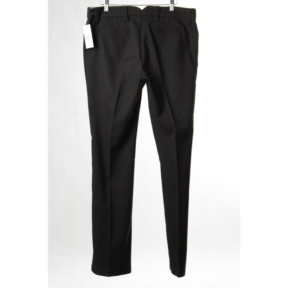Lerros bundfaltenhose schwarz dunkelgrau klassischer stil for Klassischer stil