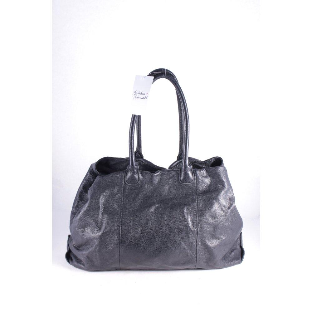 liebeskind handtasche schwarz klassischer stil damen tasche bag leder handbag. Black Bedroom Furniture Sets. Home Design Ideas