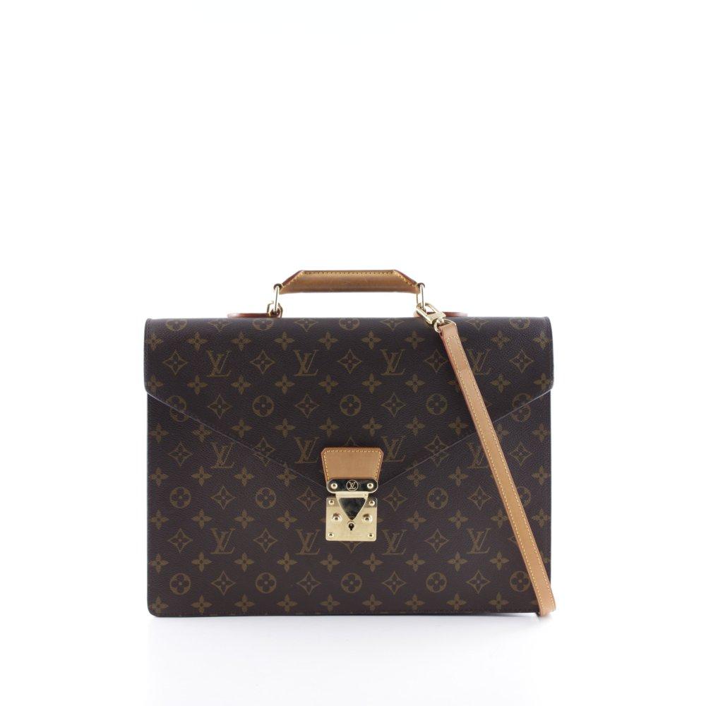 louis vuitton aktentasche vintage serviette damen cognac businesstasche leder ebay. Black Bedroom Furniture Sets. Home Design Ideas