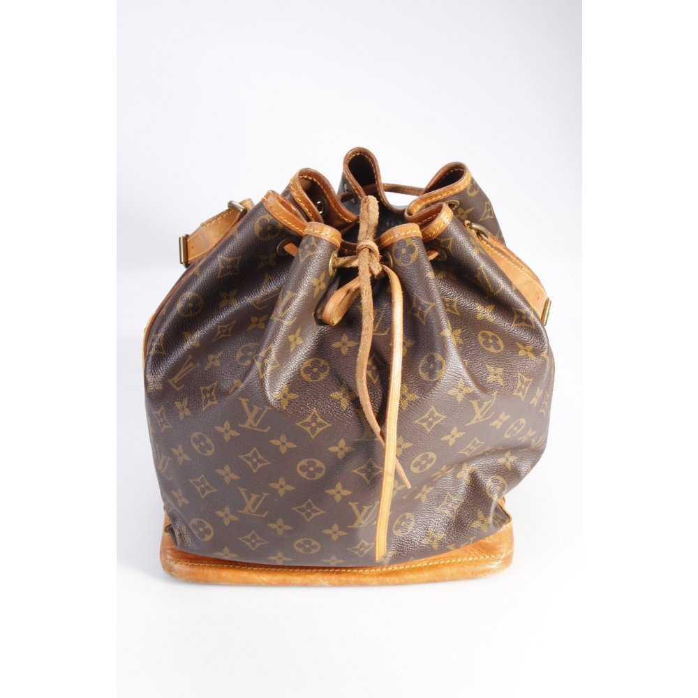 louis vuitton beuteltasche sac noe monogram one size ebay. Black Bedroom Furniture Sets. Home Design Ideas