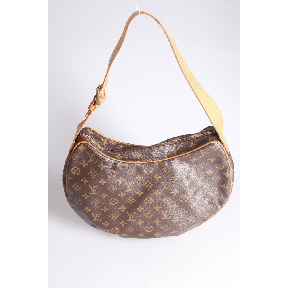 louis vuitton croissant gm monogram henkeltasche damen graubraun tasche bag ebay. Black Bedroom Furniture Sets. Home Design Ideas