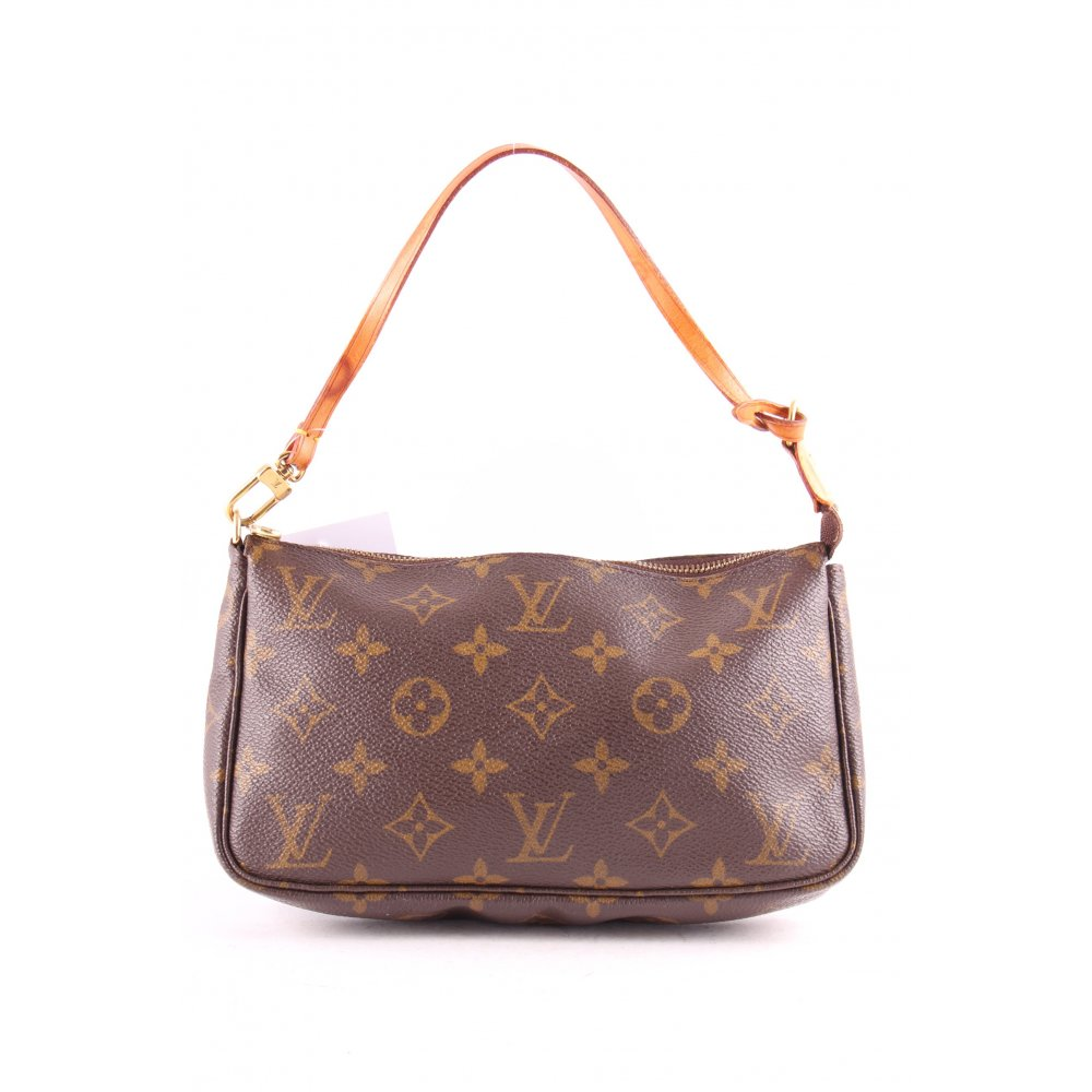 louis vuitton handtasche creme braun elegant damen tasche bag handbag ebay. Black Bedroom Furniture Sets. Home Design Ideas