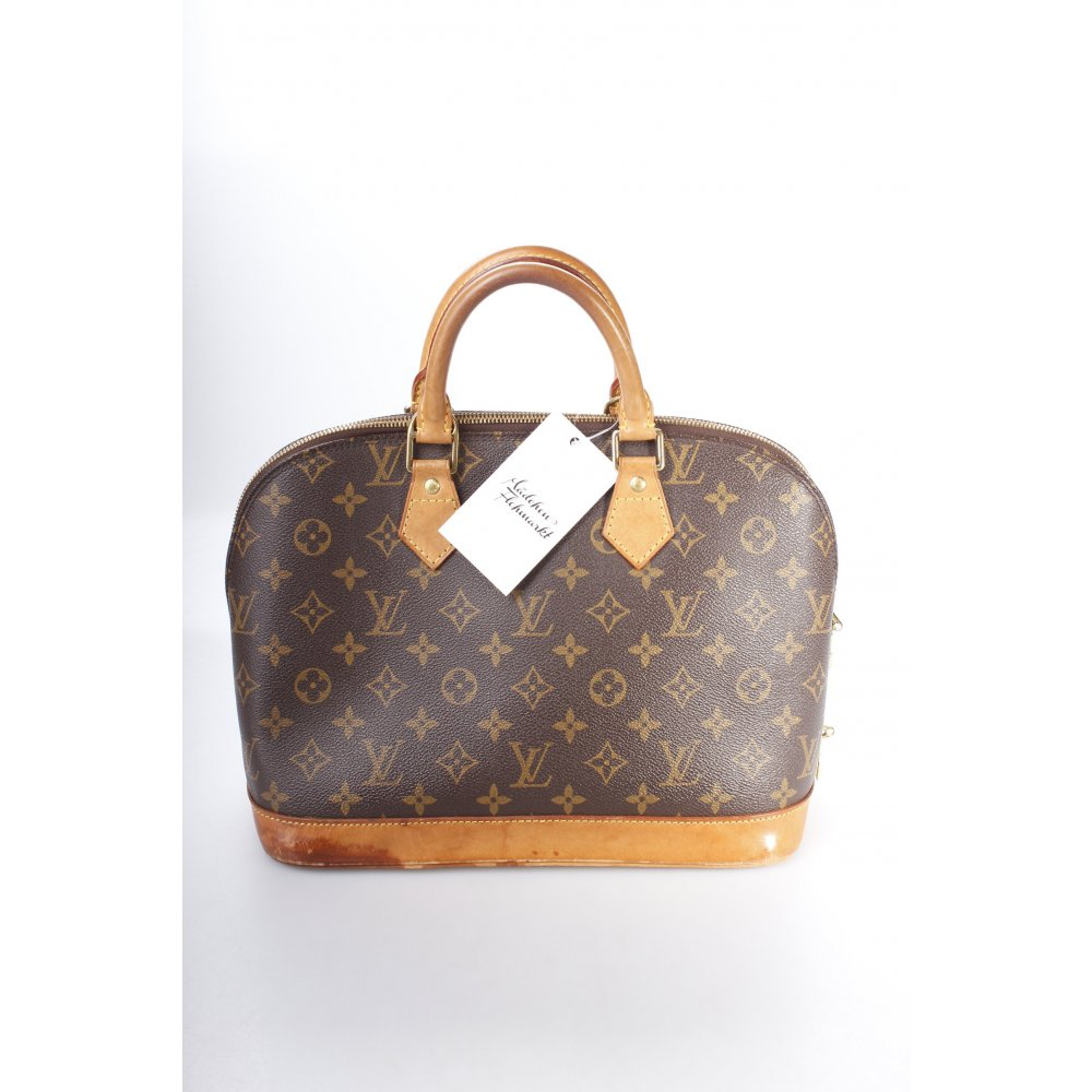 louis vuitton henkeltasche alma pm damen dunkelbraun tasche bag carry bag ebay. Black Bedroom Furniture Sets. Home Design Ideas