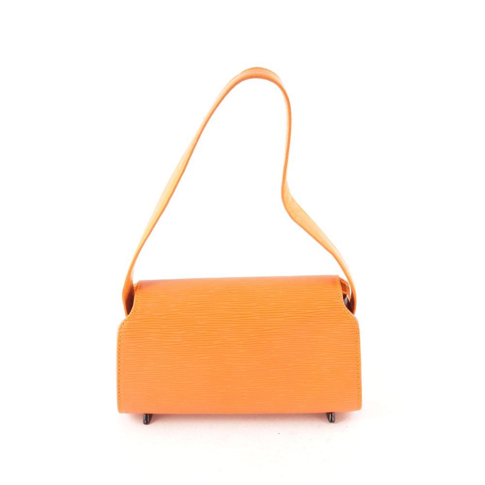 louis vuitton henkeltasche epi orange damen tasche bag leder carry bag ebay. Black Bedroom Furniture Sets. Home Design Ideas