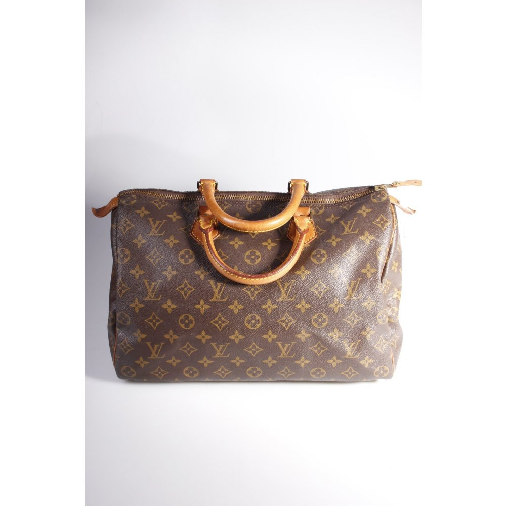 louis vuitton henkeltasche speedy 35 monogram one size ebay. Black Bedroom Furniture Sets. Home Design Ideas