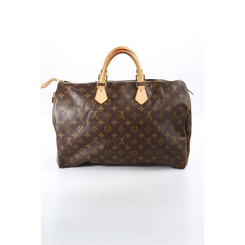 louis vuitton henkeltasche speedy 40 damen dunkelbraun tasche bag leder ebay. Black Bedroom Furniture Sets. Home Design Ideas