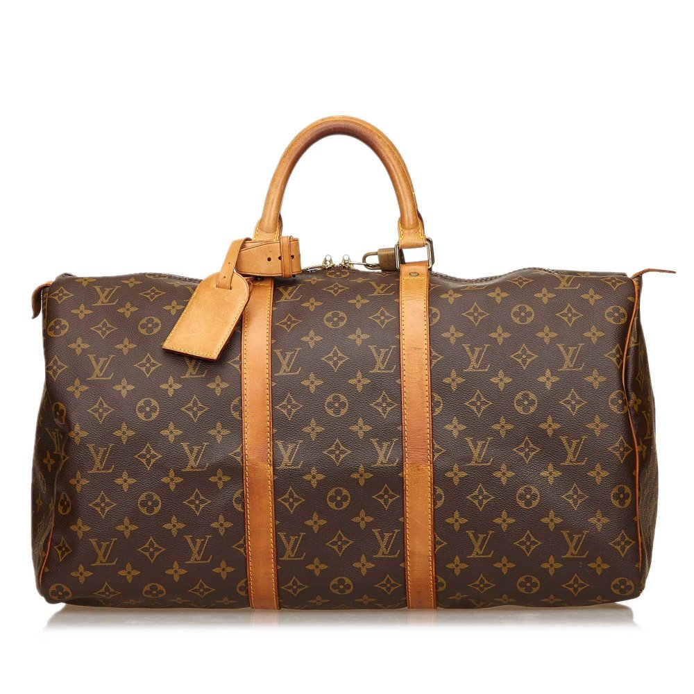 louis vuitton keepall 50 monogram reisetasche one size. Black Bedroom Furniture Sets. Home Design Ideas