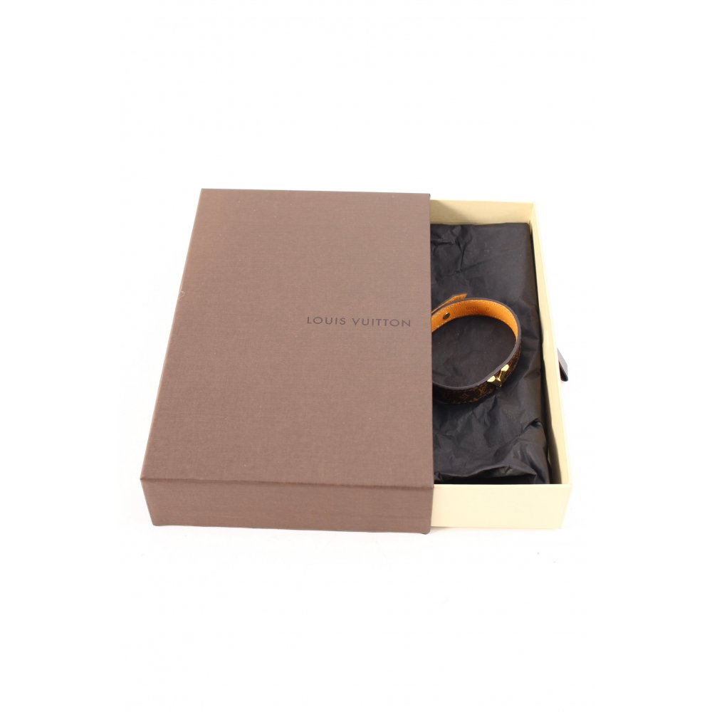 louis vuitton lederarmschmuck monogram muster klassischer stil damen armschmuck ebay. Black Bedroom Furniture Sets. Home Design Ideas