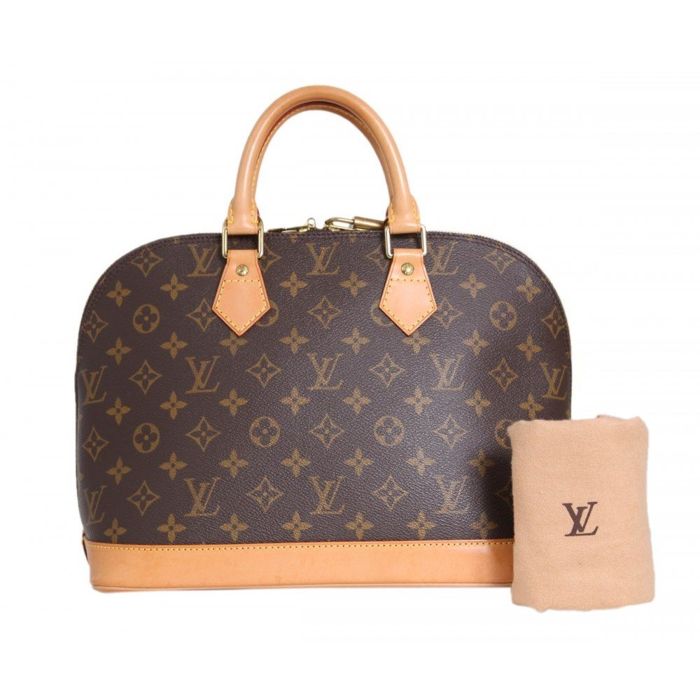 louis vuitton monogram alma henkeltasche ii gr e one size ebay. Black Bedroom Furniture Sets. Home Design Ideas