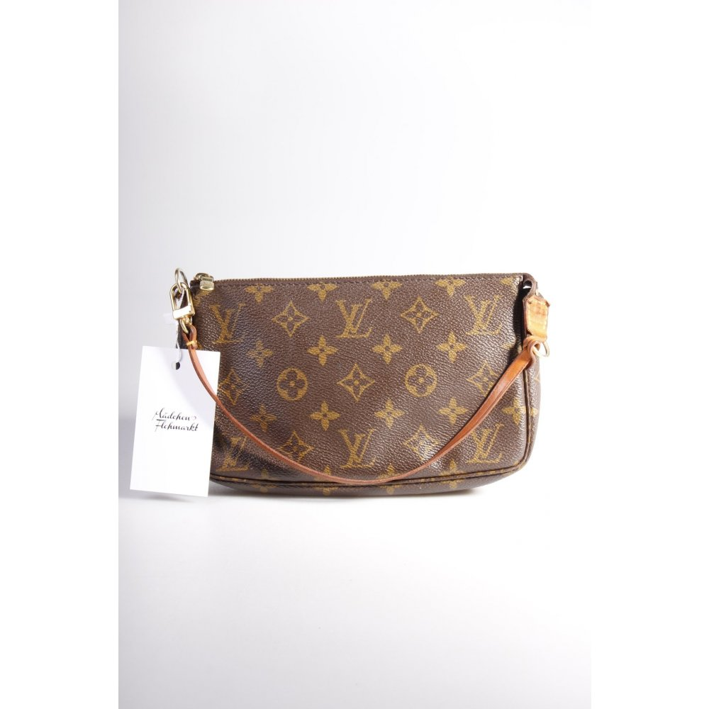 louis vuitton schultertasche pochette monogram one size ebay. Black Bedroom Furniture Sets. Home Design Ideas