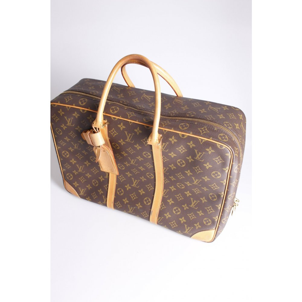 louis vuitton sirius 45 monogram reisetasche one size ebay. Black Bedroom Furniture Sets. Home Design Ideas
