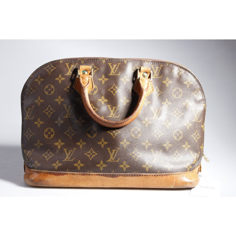 louis vuitton vintage henkeltasche alma damen graubraun tasche bag carry bag ebay. Black Bedroom Furniture Sets. Home Design Ideas