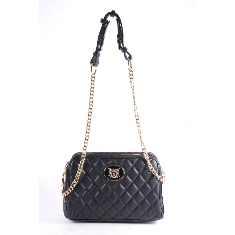 love moschino handtasche quilted chain bag black schwarz damen tasche ebay. Black Bedroom Furniture Sets. Home Design Ideas