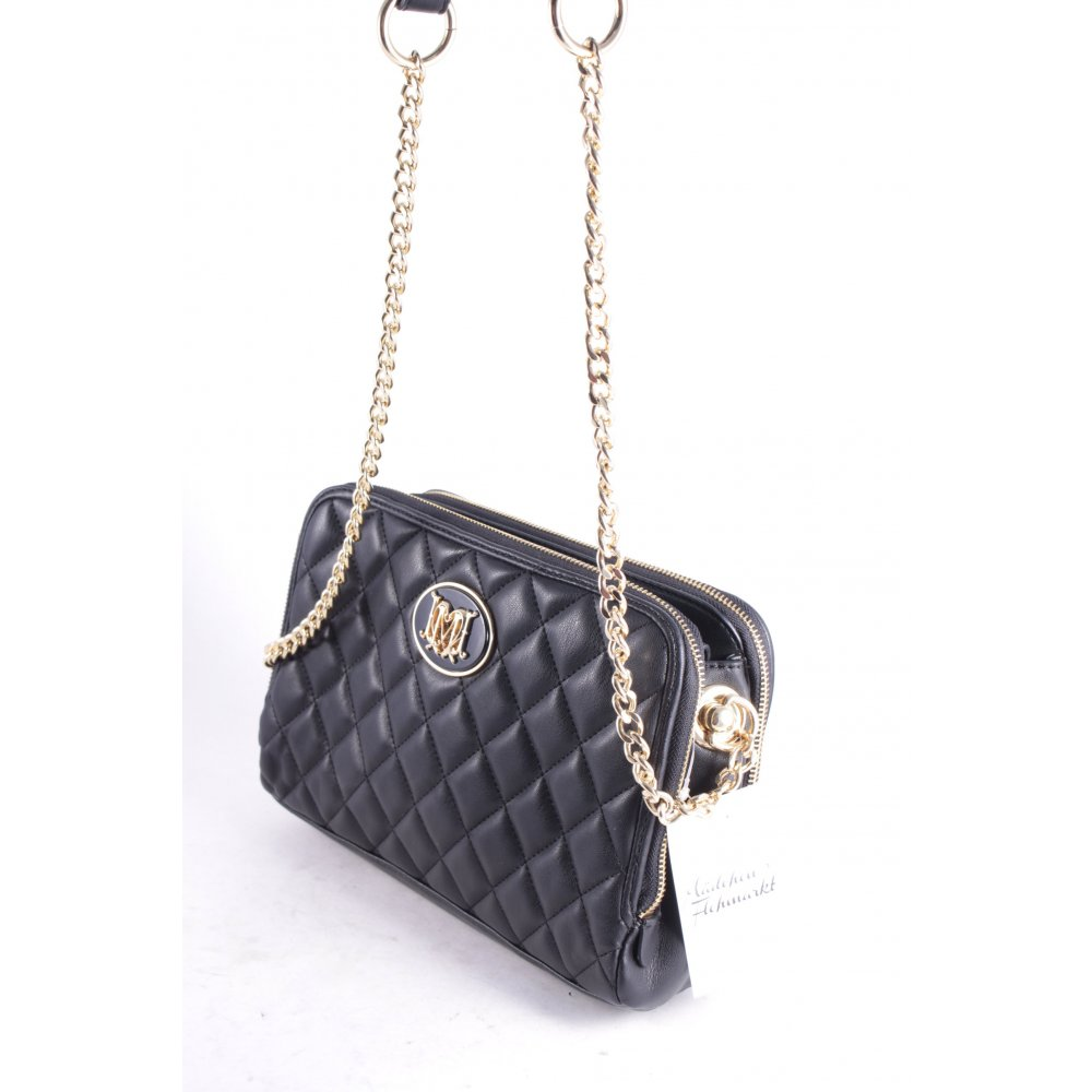 love moschino handtasche quilted chain bag black schwarz. Black Bedroom Furniture Sets. Home Design Ideas