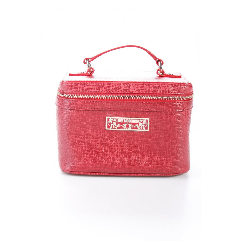 love moschino kosmetiktasche rot damen tasche bag ebay. Black Bedroom Furniture Sets. Home Design Ideas