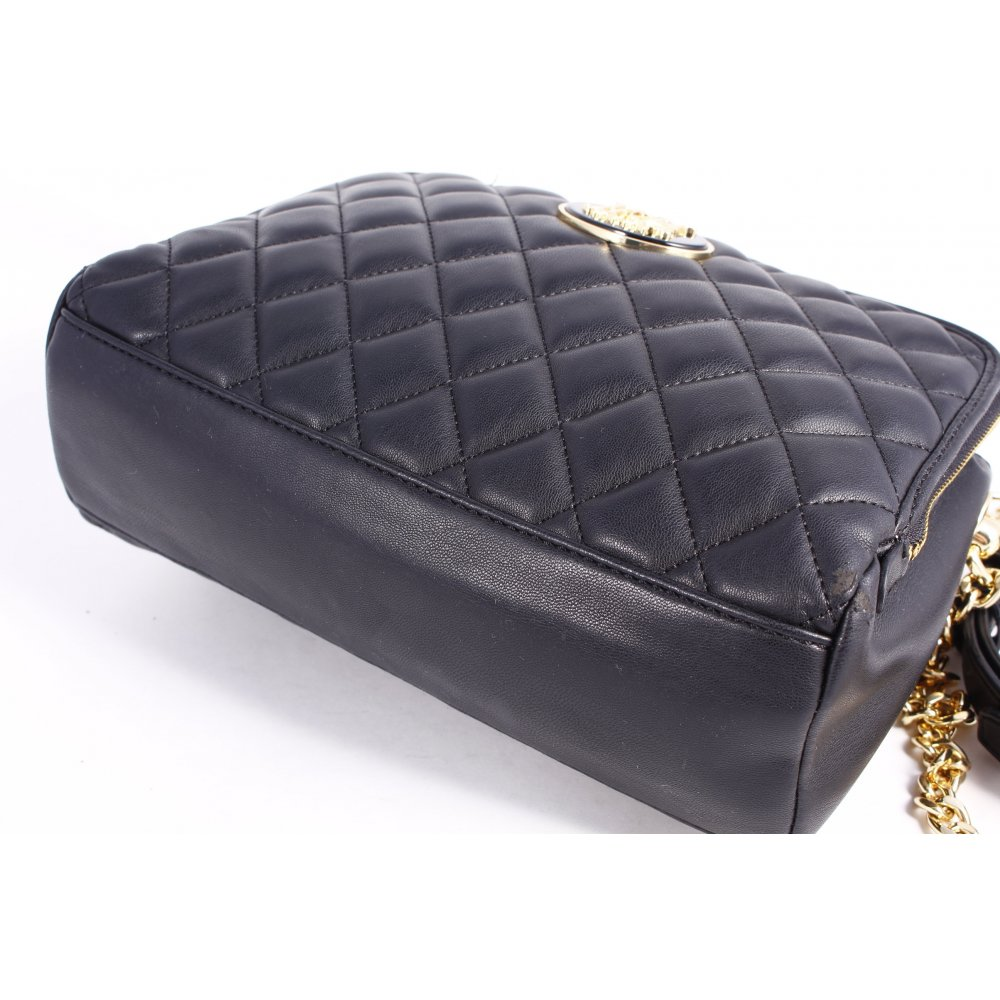 love moschino umh ngetasche quilted chain bag black. Black Bedroom Furniture Sets. Home Design Ideas