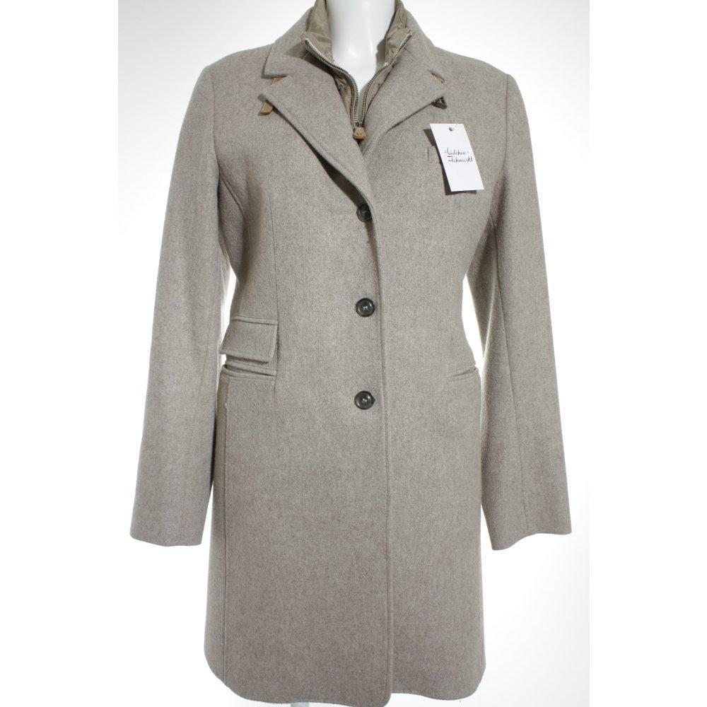 mabrun wintermantel beige hellbraun business look damen gr de 42 mantel coat ebay. Black Bedroom Furniture Sets. Home Design Ideas