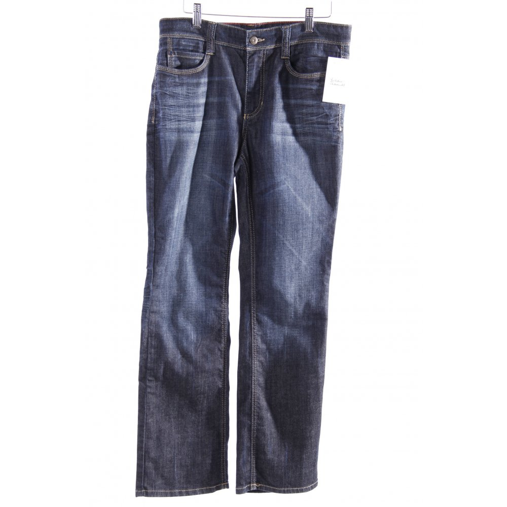 mac jeans angela blau damen gr de 40 dunkelblau baumwolle. Black Bedroom Furniture Sets. Home Design Ideas