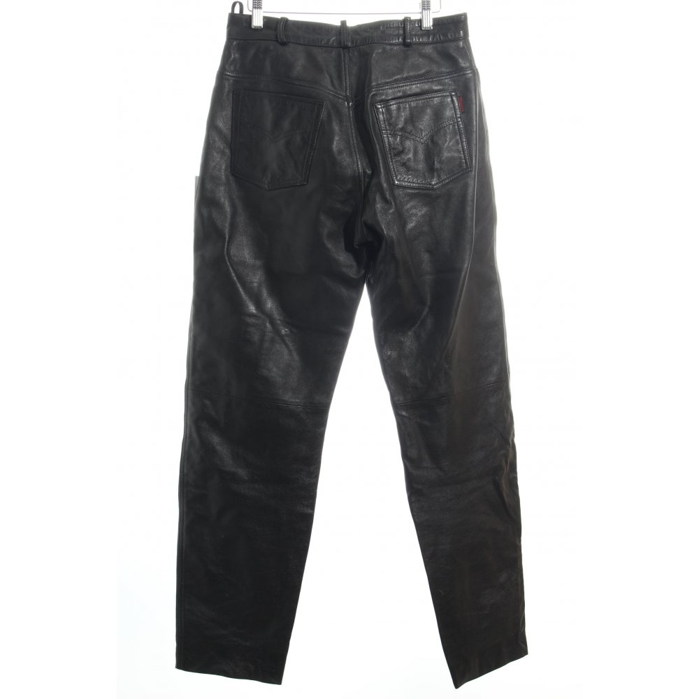 maddox lederhose schwarz biker look damen gr de 40 hose trousers leder ebay. Black Bedroom Furniture Sets. Home Design Ideas