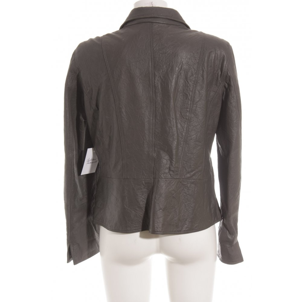 madeleine lederjacke grau casual look damen gr de 40 jacke jacket leder ebay. Black Bedroom Furniture Sets. Home Design Ideas