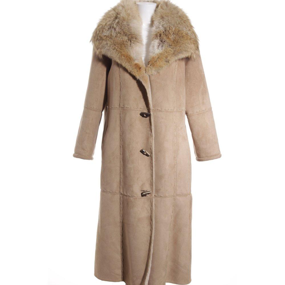 madeleine pelzmantel creme beige extravaganter stil damen gr de 44 mantel coat ebay. Black Bedroom Furniture Sets. Home Design Ideas