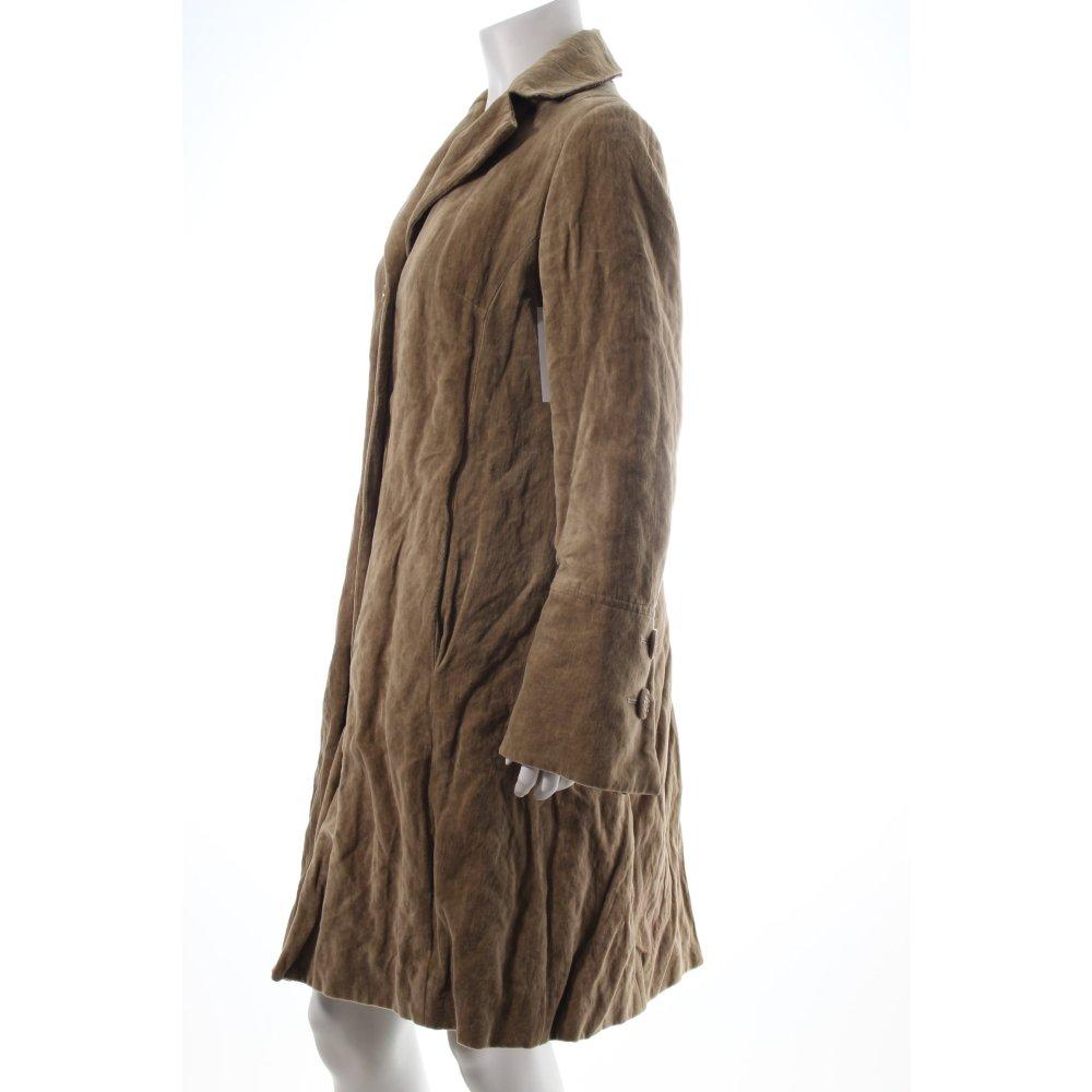 maliparmi mantel beige extravaganter stil damen gr de 40 coat ebay. Black Bedroom Furniture Sets. Home Design Ideas
