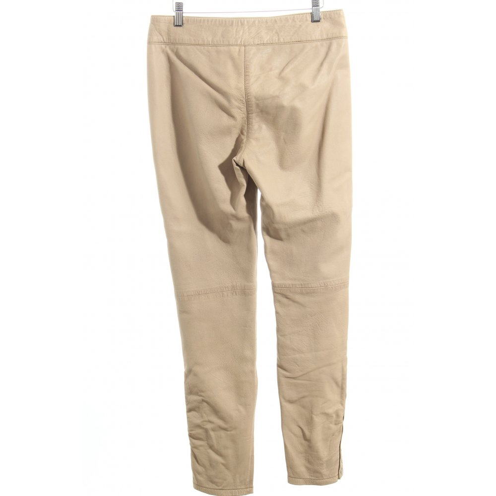 mandarin lederhose beige biker look damen gr de 38 hose trousers leder ebay. Black Bedroom Furniture Sets. Home Design Ideas